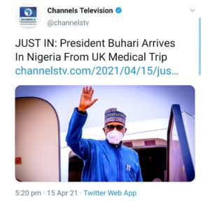 President Buhari Is Back_ Nigerians React on Social Media